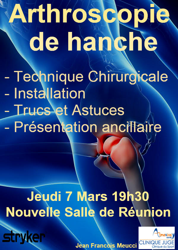 soiree arthroscopie de hanche