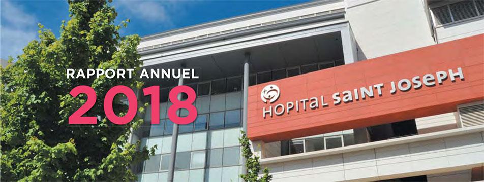 Rapport annuel de l'hôpital Saint Joseph
